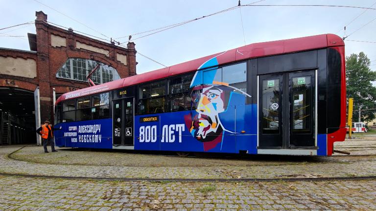 Брендированный трамвай будет курсировать по улицам Петербурга