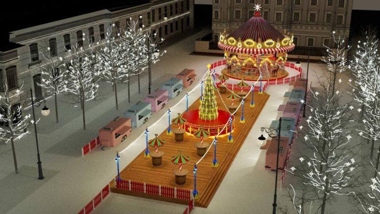 Петербуржцам показали будущую рождественскую ярмарку